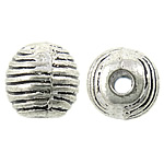 Zinc Alloy Jewelry Beads, Round, antique silver color plated, nickel, lead & cadmium free, 6.50x6.50mm, Hole:Approx 1.6mm, Approx 1111PCs/KG, Sold By KG