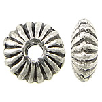 Zinc Alloy Jewelry Beads, Saucer, antique silver color plated, nickel, lead & cadmium free, 5x2mm, Hole:Approx 1mm, Approx 2500PCs/KG, Sold By KG