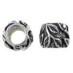 Lo zinco in lega European Beads, lega in zinco, Tamburo, senza filo, assenza di nichel,piombo&cadmio, 10x8mm, Foro:Appross. 5mm, Venduto da PC