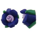 Koraliki z gliny polimerowej, Glina polimerowa, Kwiat, z płaskim tyłem, wielokolorowy, 11x7mm, 100komputery/torba, sprzedane przez torba