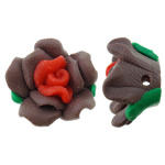 Polymer Clay Beads, Flower, 16x10mm, Hole:Approx 1.5mm, 100PCs/Bag, Sold By Bag
