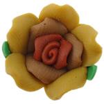 Koraliki z gliny polimerowej, Glina polimerowa, Kwiat, 14x14x10mm, otwór:około 2mm, 100komputery/torba, sprzedane przez torba