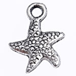 Zinc Alloy Animal Pendants, Star, antique silver color plated, lead & cadmium free, 16x12x3mm, Hole:Approx 2mm, Approx 909PCs/Bag, Sold By Bag