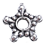 Zinc Alloy Spacer Beads, Flower, antique silver color plated, lead & cadmium free, 8.50x1.50mm, Hole:Approx 2mm, Approx 10000PCs/Bag, Sold By Bag