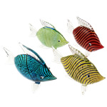 Fashion Decoration, Lampwork, Fish, mixed colors, 74x92x27mm, 5PCs/Lot, Sold By Lot