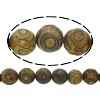 Natural Tibetan Agate Dzi Beads, Round, different size for choice & textured, Hole:Approx 1-1.2mm, Length:Approx 14.5 Inch, Sold By Lot