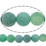 Natuurlijke Effloresce Agaat kralen, Ronde, groen, 12mm, Gat:Ca 1.3mm, Lengte:Ca 15 inch, 5strengen/Lot, Verkocht door Lot