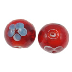 Gold Sand Lampwork Beads, Round, 16mm, Hole:Approx 1.5mm, 100PCs/Bag, Sold By Bag