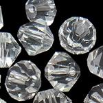 Koraliki z kryształów CRYSTALLIZED™ego, CRYSTALLIZED™, Podwójny stożek, różnej wielkości do wyboru, kryształowy, otwór:około 1mm, 50komputery/torba, sprzedane przez torba
