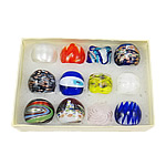 Lampwork Finger Ring, handmade, mixed colors, 22.5-27.5mm, Hole:Approx 16-18mm, 12PCs/Box, Sold By Box