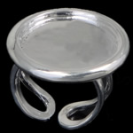 Brass Bezel Ring Base, silver color plated, nickel, lead & cadmium free, 26x26mm, 20.8x20.8mm, 18mm, Inner Diameter:Approx 20.8mm, US Ring Size:8, 20PCs/Bag, Sold By Bag