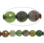 Natural Indian Agate Beads, Round, faceted, 14mm, Hole:Approx 1.2-1.5mm, Length:Approx 15 Inch, 5Strands/Lot, Approx 27PCs/Strand, Sold By Lot