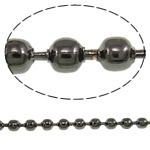 Iron Ball Chain, plumbum black color plated, nickel, lead & cadmium free, 2.40mm, 100m/Lot, Sold By Lot