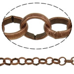 Iron Rolo Chain, antique copper color plated, nickel, lead & cadmium free, 5.80x1.50mm, Length:25 m