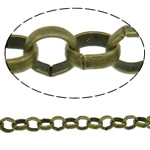 Iron Rolo Chain, antique bronze color plated, nickel, lead & cadmium free, 3.80x1.10mm, Length:50 m, Sold By PC