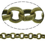 Iron Rolo Chain, antique bronze color plated, nickel, lead & cadmium free, 4.50x1.50mm, Length:50 m, Sold By PC
