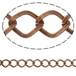 Iron Rhombus Chain, antique copper color plated, nickel, lead & cadmium free, 11x9x1.60mm, Length:25 m