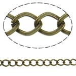 Iron Rhombus Chain, antique bronze color plated, nickel, lead & cadmium free, 7.10x9.10x1.30mm, Length:25 m