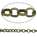 Iron Rolo Chain, antique bronze color plated, nickel, lead & cadmium free, 3.50x1mm, 100m/Bag, Sold By Bag