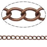 Żelazny drut na pętli, żelazo, Owal, Platerowane kolorem starej miedzi, bez zawartości niklu, ołowiu i kadmu, 9x6.50x1.40mm, długość:10 m