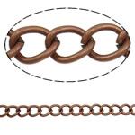 Żelazny drut na pętli, żelazo, Owal, Platerowane kolorem starej miedzi, bez zawartości niklu, ołowiu i kadmu, 10x7.80x1.60mm, długość:10 m
