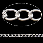 Żelazny drut na pętli, żelazo, Owal, Platerowane w kolorze srebra, bez zawartości niklu, ołowiu i kadmu, 5x7x1.20mm, 50m/wiele, sprzedane przez wiele