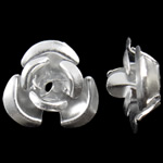 Aluminium bloem kralen zilver 8x8.50x5mm Gat:Ca 1.1mm 950pC's/Bag Verkocht door Bag