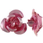 Aluminium bloem kralen, geschilderd, roze, 8x8.50x5mm, Gat:Ca 1.1mm, 950pC's/Bag, Verkocht door Bag