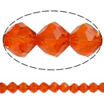 Imitation CRYSTALLIZED™ Element Crystal Beads, Bicone, faceted & imitation CRYSTALLIZED™ element crystal, Fire Opal, 12mm, Hole:Approx 1.5mm, 72PCs/Strand, Sold Per 32 Inch Strand