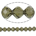 Imitation CRYSTALLIZED™ Element Crystal Beads, Bicone, faceted & imitation CRYSTALLIZED™ element crystal, Greige, 12mm, Hole:Approx 1.5mm, 72PCs/Strand, Sold Per 32 Inch Strand