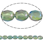 Imitation CRYSTALLIZED™ Element Crystal Beads, Oval, faceted & imitation CRYSTALLIZED™ crystal, Peridot, 20x16x9mm, Hole:Approx 1.5mm, 15PCs/Strand, Sold Per 12 Inch Strand