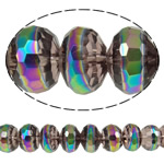 Imitation CRYSTALLIZED™ Element Crystal Beads, Rondelle, colorful plated, faceted & imitation CRYSTALLIZED™ element crystal, 12x9mm, Hole:Approx 1.8mm, 32PCs/Strand, Sold Per 11 Inch Strand