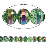 Imitation CRYSTALLIZED™ Element Crystal Beads, Rondelle, colorful plated, faceted & imitation CRYSTALLIZED™ element crystal, 12x9.50mm, Hole:Approx 1.8mm, 32PCs/Strand, Sold Per 12 Inch Strand