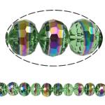 Jäljitelmä CRYSTALLIZED™ kristalli helmiä, Rondelli, värikäs päällystetty, kasvot & jäljitelmä CRYSTALLIZED™n, 12x9.50mm, Reikä:N. 1.8mm, 32PC/Strand, Myyty Per 12 tuuma Strand