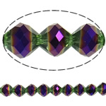 Imitation CRYSTALLIZED™ Element Crystal Beads, Bicone, colorful plated, faceted & imitation CRYSTALLIZED™ element crystal, 10mm, Hole:Approx 1.5mm, 33PCs/Strand, Sold Per 12 Inch Strand