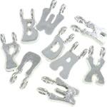 Plastikowe zawieszki, Plastik, srebro, 15x7.50x4.50mm, otwór:około 2.7mm, 3200komputery/torba, sprzedane przez torba