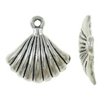 Zinc Alloy Animal Pendants, antique silver color plated, nickel, lead & cadmium free, 19x19x3.70mm, Hole:Approx 2mm, Approx 625PCs/KG, Sold By KG