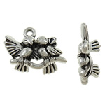 Zinc Alloy Animal Pendants, antique silver color plated, nickel, lead & cadmium free, 14x15x6.30mm, Hole:Approx 1.6mm, Approx 310PCs/KG, Sold By KG