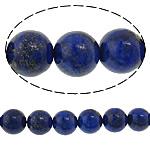 Koraliki Lapis Lazuli, Lapis lazuli naturalny, Koło, Naturalne, 10mm, otwór:około 1mm, długość:około 15 cal, 5nici/wiele, około 37komputery/Strand, sprzedane przez wiele
