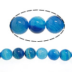 Natural Lace Agate Beads, Round, different size for choice, blue, Hole:Approx 1-1.2mm, Length:Approx 15 Inch, Sold By Lot