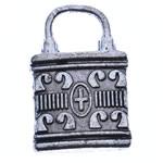 Sinkkiseos Lock riipukset, Lukko, antiikki hopea päällystetty, Jäljitelmä Antiikki, nikkeli, lyijy ja kadmium vapaa, 22x14x2.50mm, Reikä:N. 7x6mm, N. 200PC/KG, Myymät KG