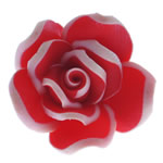 Polymer Clay Beads, Flower, red, 17.50x17x10mm, Hole:Approx 1.5mm, 100PCs/Bag, Sold By Bag