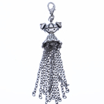 Zinc Alloy Chain Tassel, antique silver color plated, nickel, lead & cadmium free, 75x16mm, Hole:Approx 4x3.5mm, Length:2.9 Inch, Sold By PC