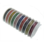 Tiger Tail Wire, with plastic spool, mixed colors, 0.45mm, 10PCs/Lot, 50m/PC, Sold By Lot