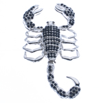 Zinc Alloy Animal Pendants, Scorpion, antique silver color plated, nickel, lead & cadmium free, 84x43x13mm, Hole:Approx 4mm, Sold By PC