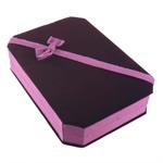 Velveteen Jewelry Set Box, Rectangle, purple, 135x185x45mm, 10PCs/Lot, Sold By Lot