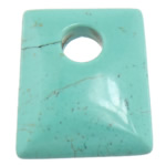 Turquoise Pendant, Rectangle, turquoise blue, 40x50x11mm, Hole:Approx 12.5mm, 20PCs/Lot, Sold By Lot