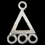 Коннекторы из серебра , Серебро 925 пробы, Треугольник, 1/3 петли, 8.50x13x0.70mm, отверстие:Приблизительно 1.2mm, 10ПК/сумка, продается сумка