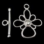 Srebro 925 Zapięcie kołek, Kwiat, jednopasmowe, 17x2mm, 16.2x20.5x2mm, otwór:około 2mm, 5zestawy/wiele, sprzedane przez wiele