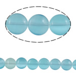 Cats Eye Jewelry Beads, Flat Round, light blue, 10x4.50mm, Hole:Approx 1mm, Approx 38PCs/Strand, Sold Per Approx 15.3 Inch Strand